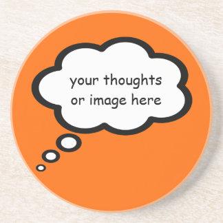 personalize o balão dos desenhos animados do porta copos de arenito