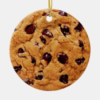 Personalize-o, biscoito dos pedaços de chocolate ornamento de cerâmica redondo