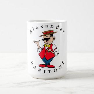 Personalize o cantor masculino caneca de café