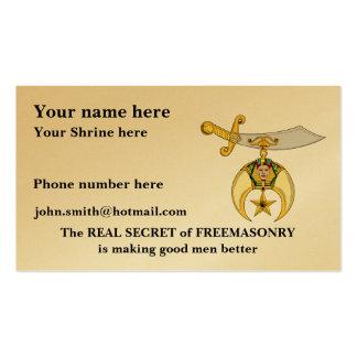Personalize o cartão de visita de Shriners