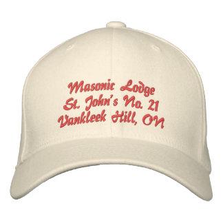 Personalize o chapéu maçónico do alojamento das boné bordado