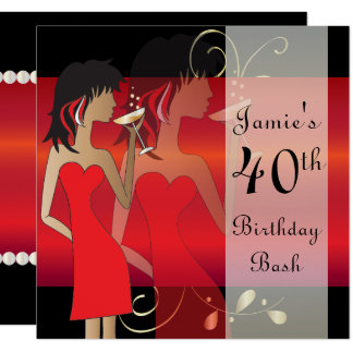 Personalize o convite de festas vermelho da