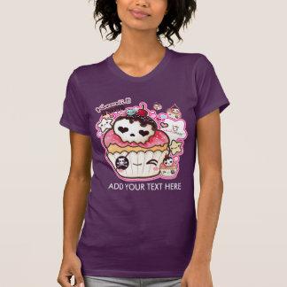 Personalize o cupacke bonito do crânio do kawaii camiseta