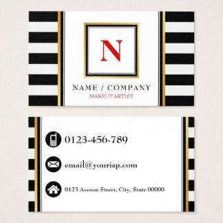 Personalize o maquilhador do monograma cartão de visitas