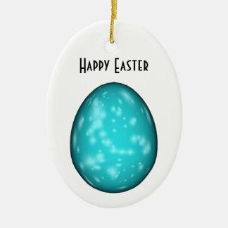 PERSONALIZE - o ovo da páscoa salpicado azul Enfeites De Natal