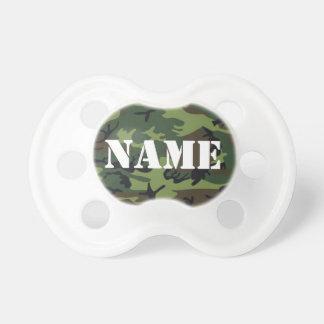 Personalize o Pacifier capaz da camuflagem do nome Chupeta