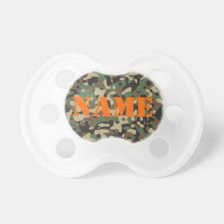 Personalize o Pacifier capaz da camuflagem do nome Chupeta De Bebê