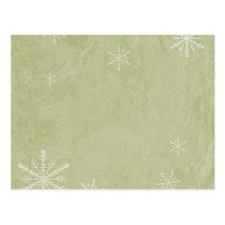 PERSONALIZE o papel 3 do floco de neve - amarelo Cartão Postal