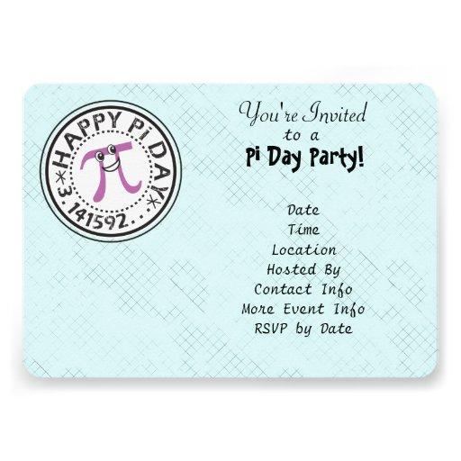 Personalize - o partido feliz bonito do dia do Pi Convite Personalizado