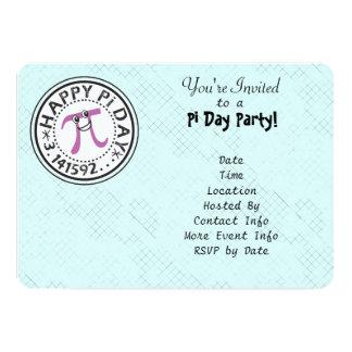 Personalize - o partido feliz bonito do dia do Pi Convite 12.7 X 17.78cm