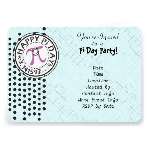 Personalize - o partido feliz do dia do Pi das bol Convite Personalizados