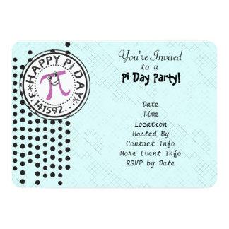 Personalize - o partido feliz do dia do Pi das Convite 12.7 X 17.78cm