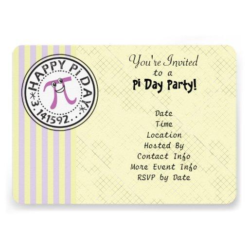 Personalize - o partido feliz listrado bonito do d convite personalizado