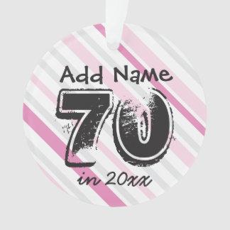 Personalize o ROSA do aniversário do 70