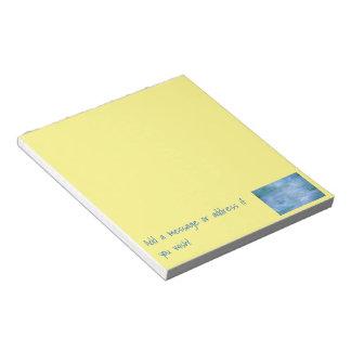 Personalize o seu bloco de notas