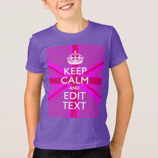 Personalize o seu mantêm a calma para editar o tshirts