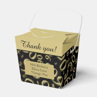 Personalize: ouro/preto da festa de aniversário do caixinha