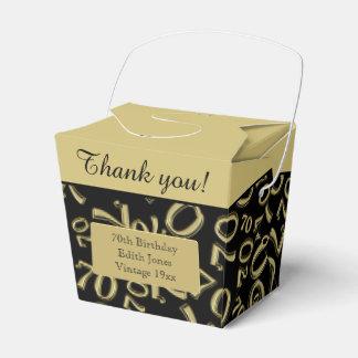 Personalize: ouro/preto da festa de aniversário do caixinha de lembrancinhas