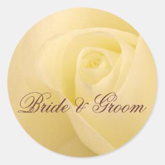 Personalize selo do casamento da noiva & do noivo adesivo