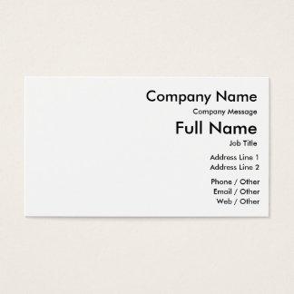Personalize seu cartão de visita padrão, 100
