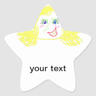 Personalize seus vários tamanhos & formas das adesito estrela
