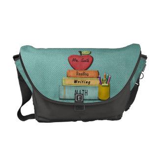 Personalize Teachers', Apple, livros e lápis Bolsas Mensageiro