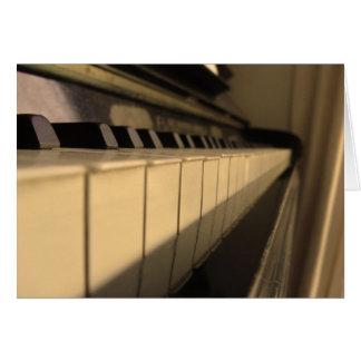 Perspectiva musical cartão de nota