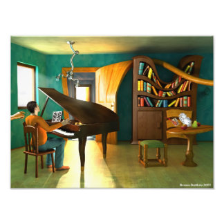 Perturbando o pianista arte de fotos