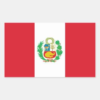 Peru/bandeira peruana adesivo retangular