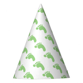 Pés bonitos do bebê chapéu de festa