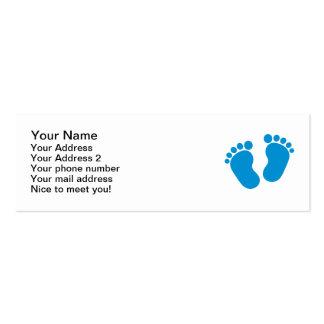 Pés do bebê azul cartões de visita