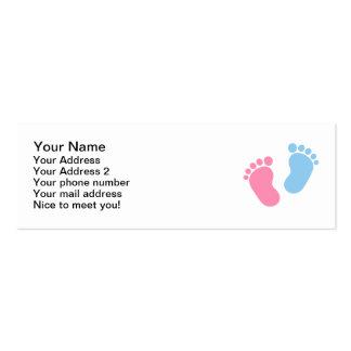 Pés do bebê cartões de visitas