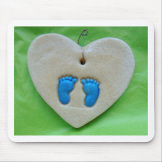 pés do bebê no azul mouse pad