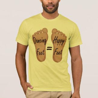 Pés felizes que dançam t-shirt da dança dos pés camiseta