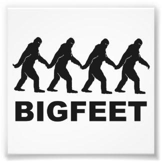 Pés grandes de Bigfoot Impressão De Foto
