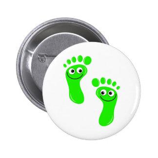 Pés verdes felizes boton