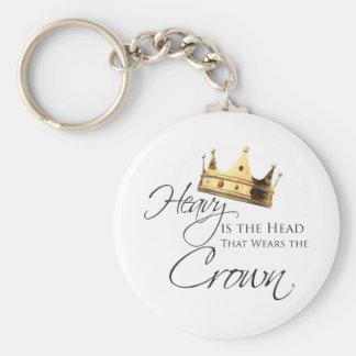 Pesada é a cabeça que veste a coroa chaveiro