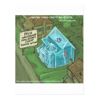 Pesadelo das vendas Home de bens imobiliários engr Cartão Postal
