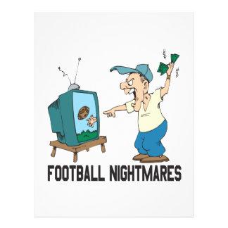 Pesadelo do futebol modelo de panfleto