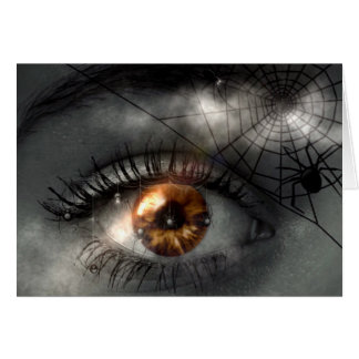 PESADELO! (olho - aranha - Web) ~ Cartão