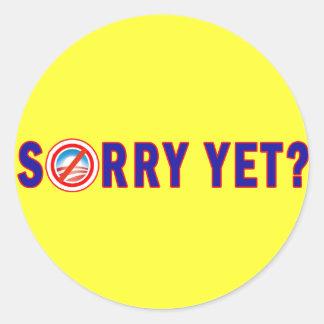 Pesaroso ainda? Anti produtos de Obama Adesivo Redondo