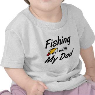 Pesca com meu pai camiseta