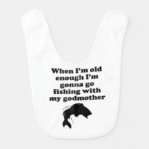 Pesca com minha madrinha babador