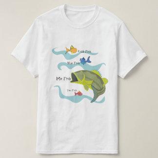 Pesca da perda dos desenhos animados t-shirt