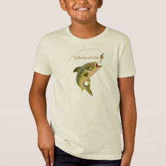 Pesca de Yellowstone da camisa dos meninos