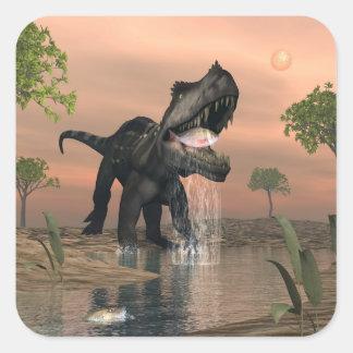 Pesca do dinossauro de Prestosuchus - 3D rendem Adesivo Quadrado