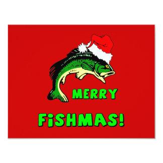 Pesca engraçada do Natal Convite Personalizado