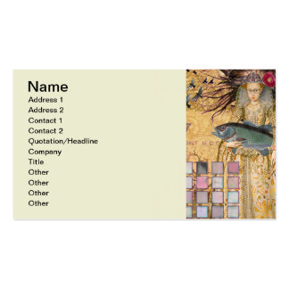 Pesca lunática gótico do renascimento da mulher cartão de visita