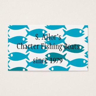 Pesca, marisco ou cartão de visita temático do