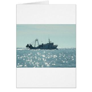 Pesca no mar Sparkling de A Cartão Comemorativo